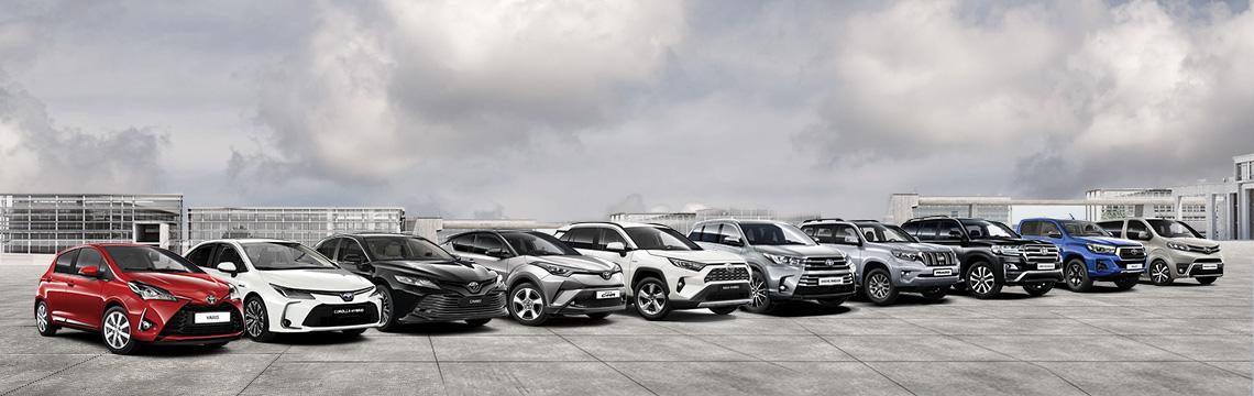 Модельний ряд Toyota в Україні